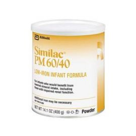 Similac pm 60/40, 1 lb can with low iron